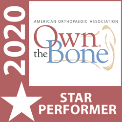 American Orthopedic Association Own the Bone Star Performer logo