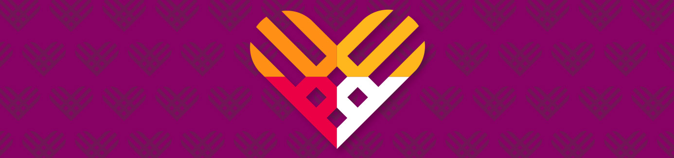 Graphic of a heart with giving tuesday logo