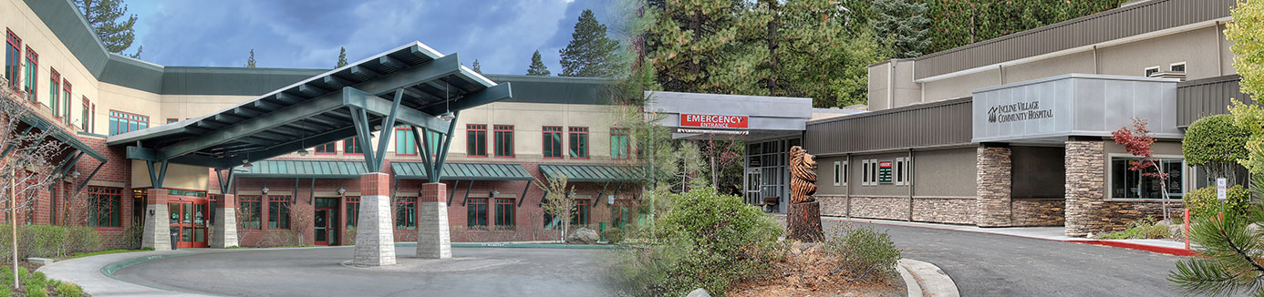 exterior entrance of tahoe forest hospital and incline village community hospital
