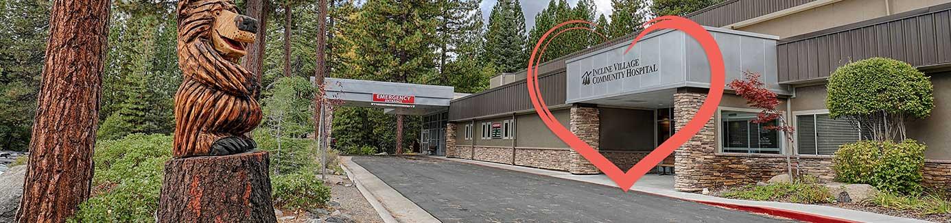 incline village community hospital front entrance