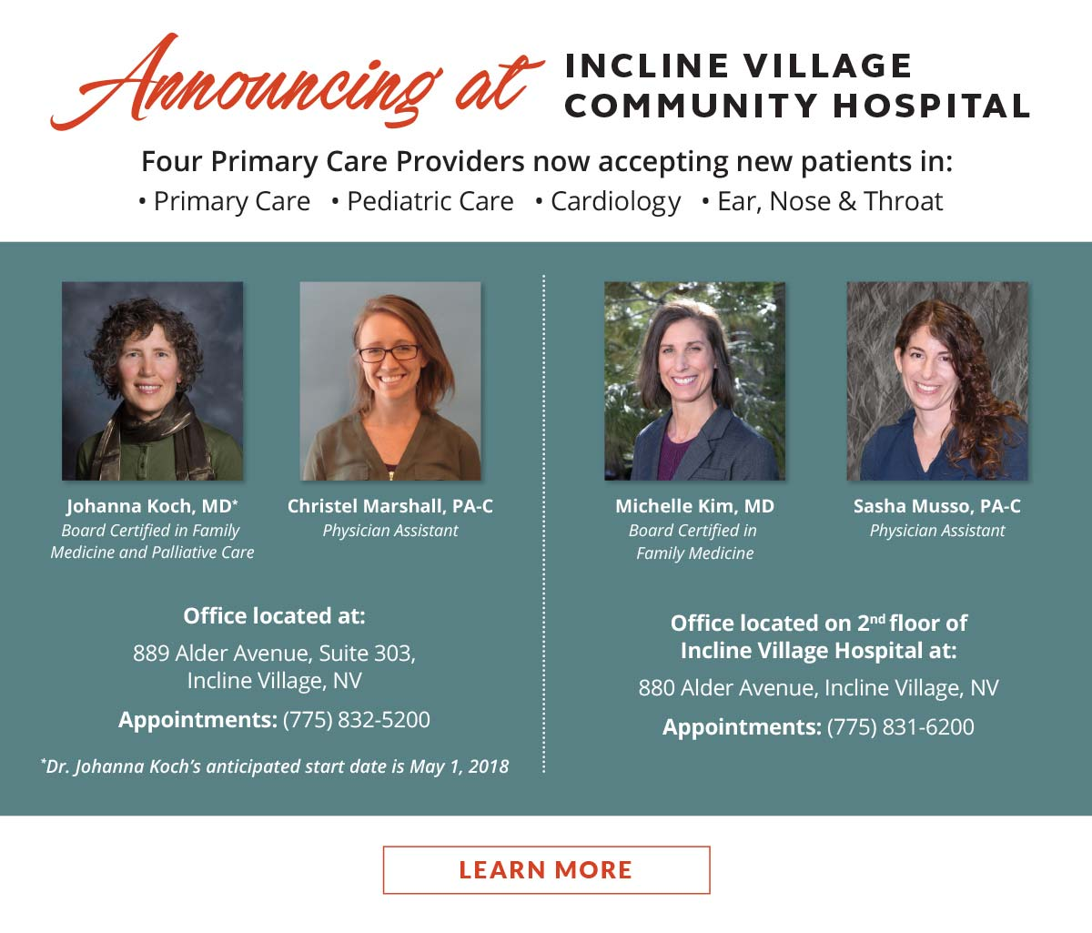 Incline Village Community Hospital staff