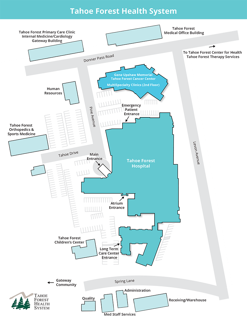Tahoe Forest Hospital Campus Map