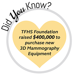 TFHS foundation raised money to purchase new 3d mammography equipment