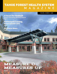 Tahoe Forest Health System Magazine Vol 2, Number 2