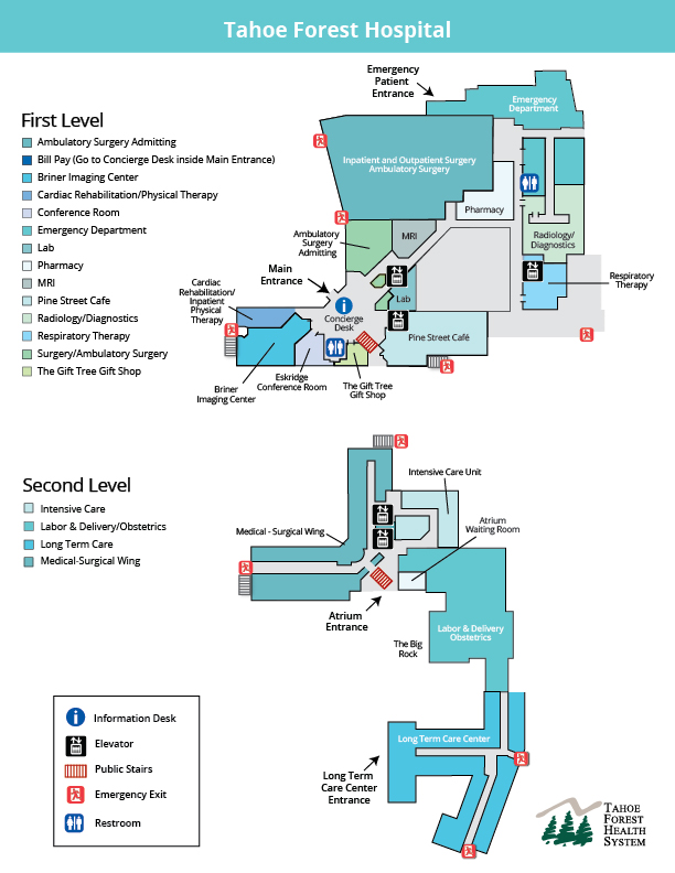 Tahoe Forest Hospital Building Map