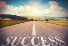 road with word, success, on it