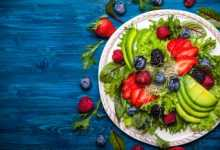 salad with avocado and berries