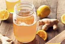 drink with ginger and lemon