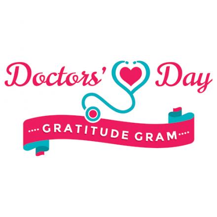 Doctor's Day Gratitude Gram graphic