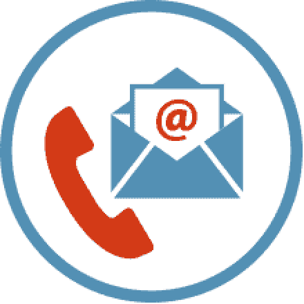 Telephone and email icon