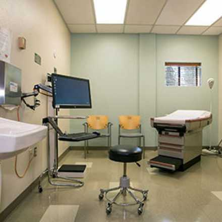Incline Health Center exam room