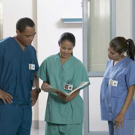 A group of three nurses