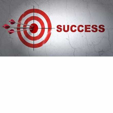 Target with arrows and success