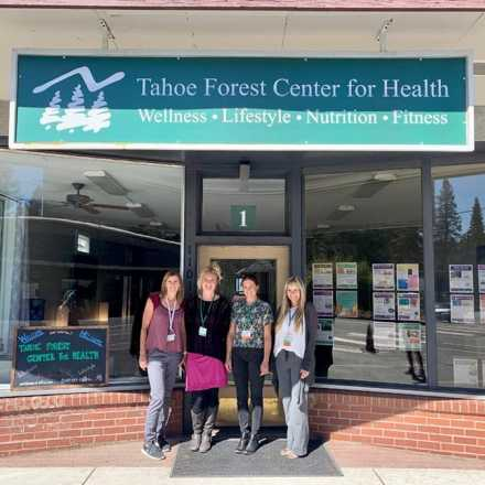 Tahoe Forest Center for Health team standing in front of their new location