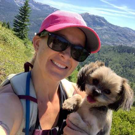 Eren Corbit with dog