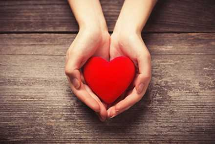 heart held in hands