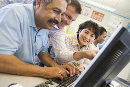 Adults learning online