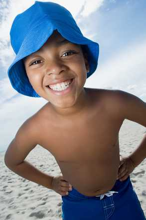 Smiling boy on the beach