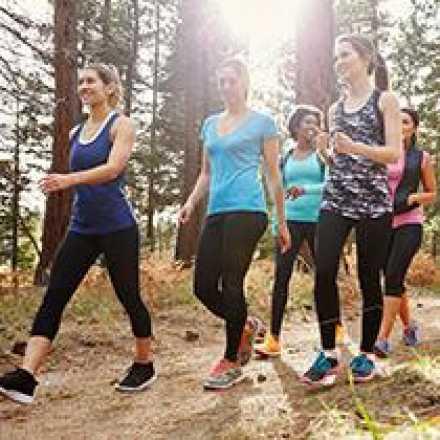 Group of woman hiking
