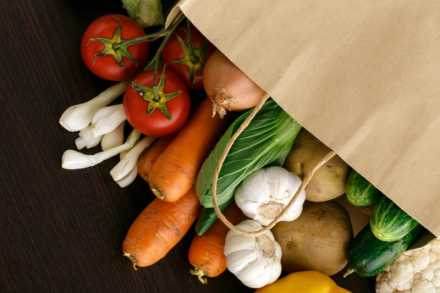 Bag of root vegetables
