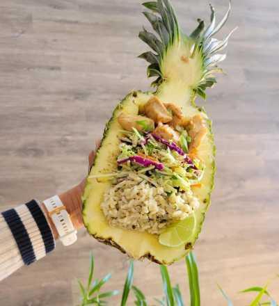 Chicken Teriyaki Pineapple Bowl