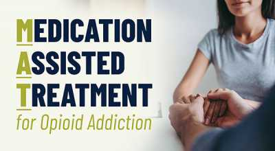 Medication Assisted Treatment for opioid addiction graphic