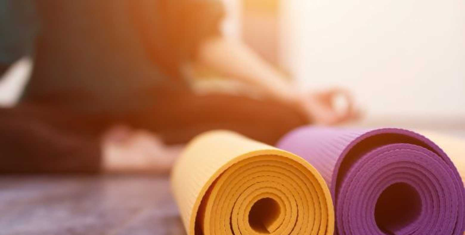 Two rolled yoga mats