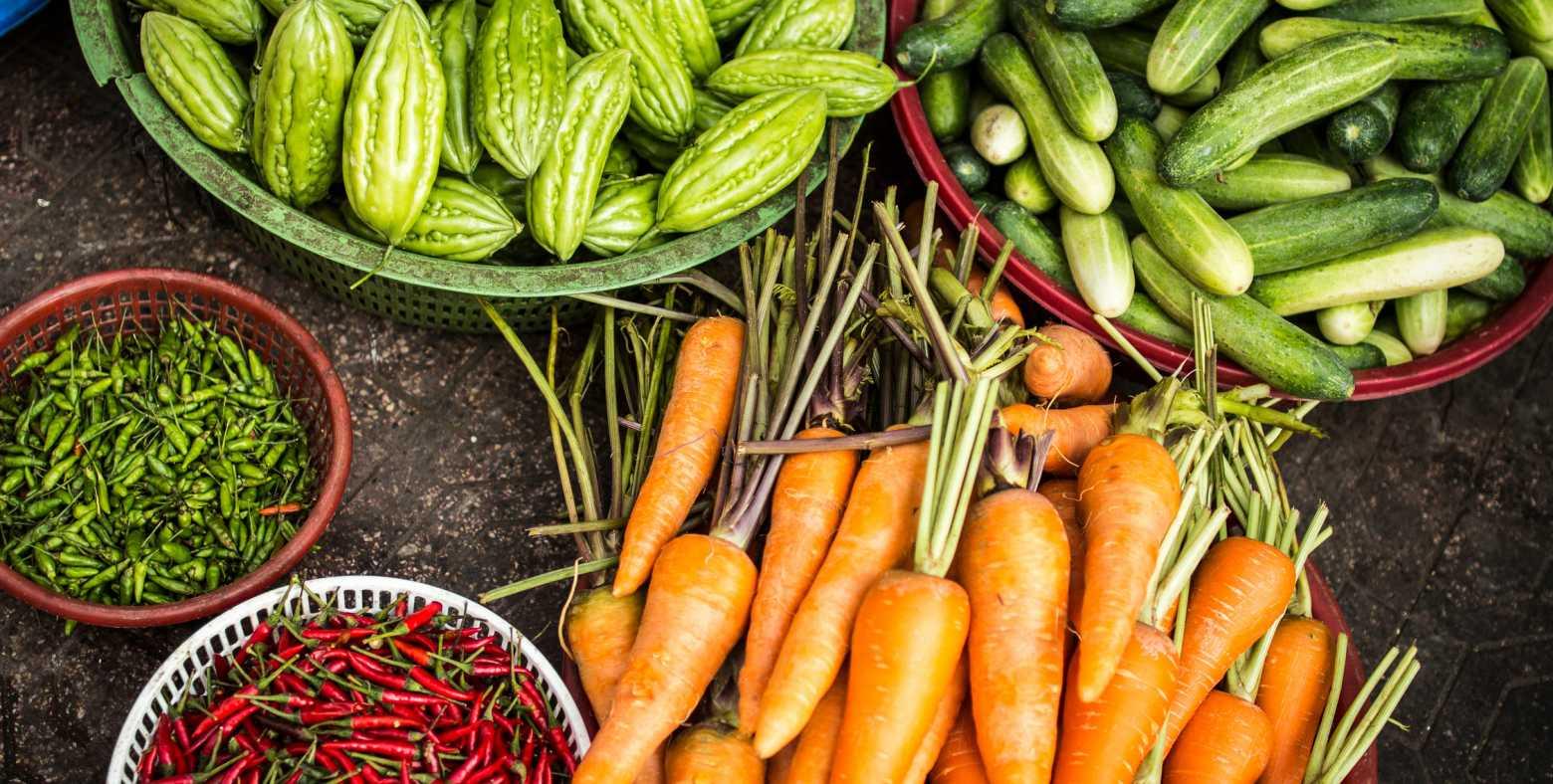 bowls of vegetables