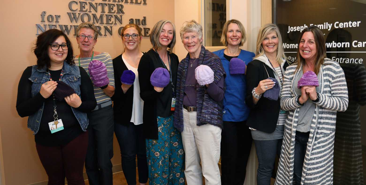 Knitter's guild and Tahoe Forest staff