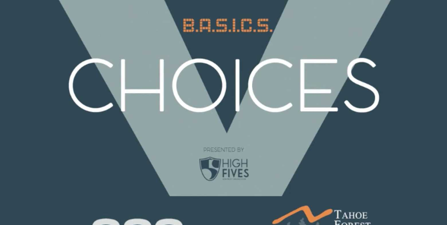 Choices video title frame with High Fives logo