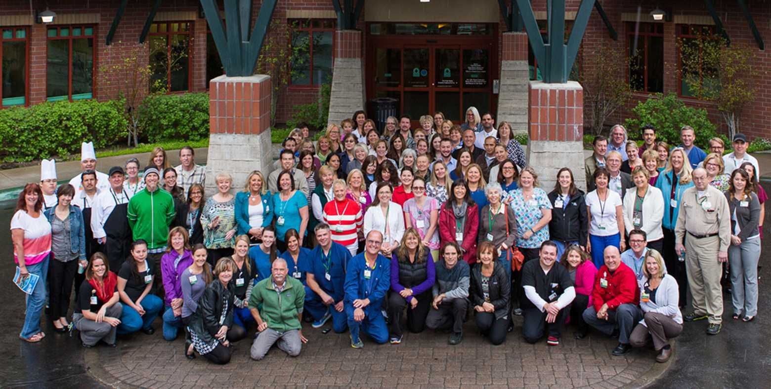 tahoe forest hospital staff in front of hospital