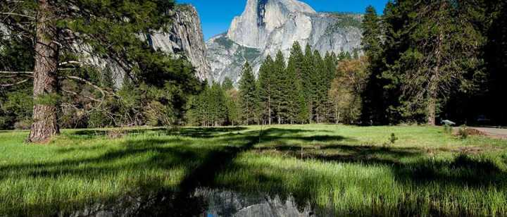 Half Dome at Yosemite on a clear spring day
