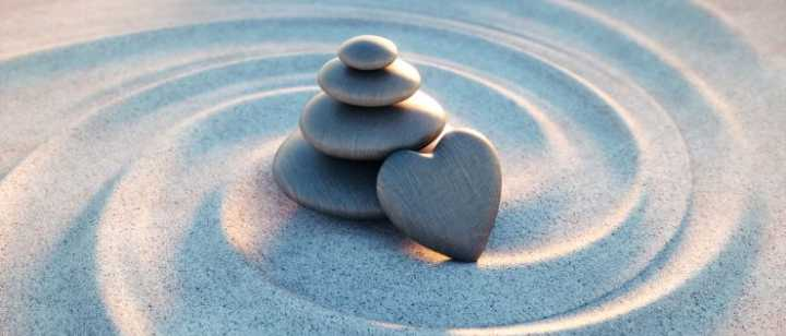 Sand with rock heart