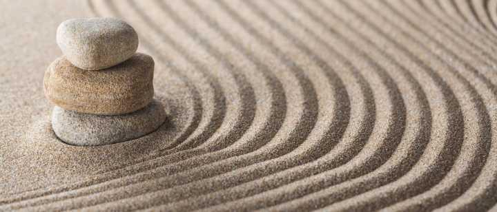 meditative zen garden