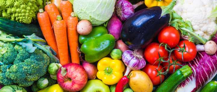 colorful array of fresh fruits and vegetables