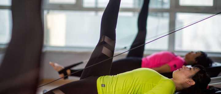 Women doing pilates