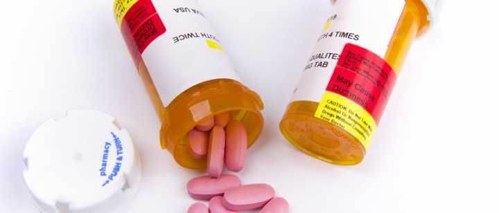 bottles of medication pills