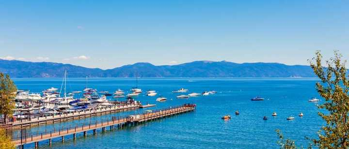 View of Lake Tahoe from Tahoe City marina