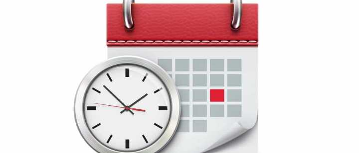clock and calendar graphic