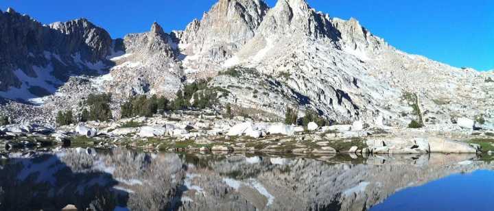 mountains part of John Muir Trail
