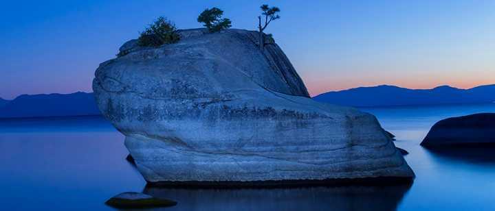 Lake Tahoe bonsai rock