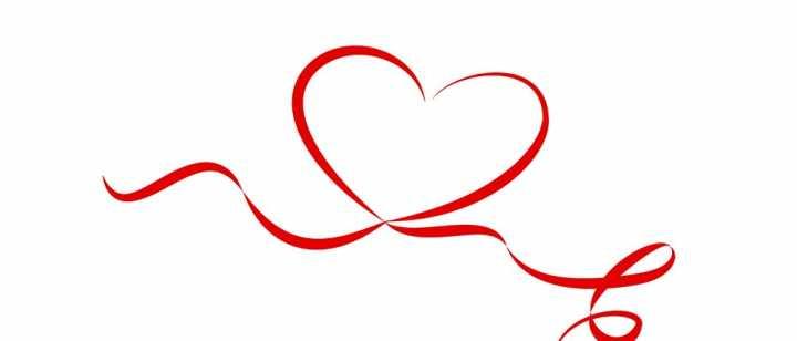 Heart ribbon graphic