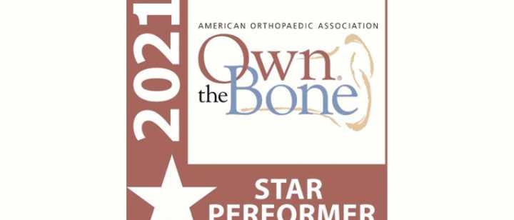 Own the Bone star performer logo