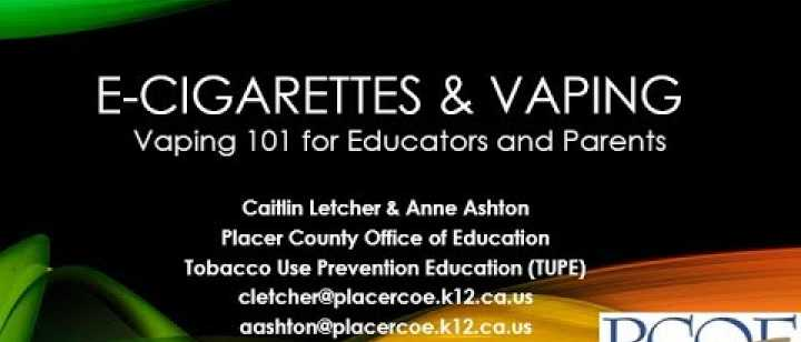 Embedded thumbnail for PCOE: Vaping 101 for Educators and Parents