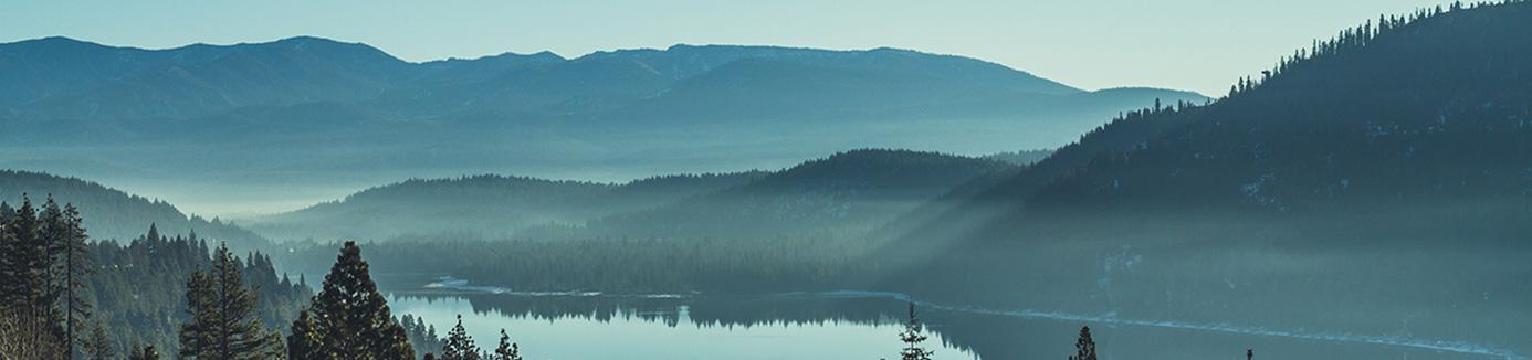 Donner lake at sunrise